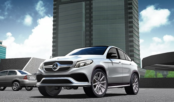 City Car Driving 1.5.9 - Mercedes-Benz GLE 63 AMG Coupe 2017