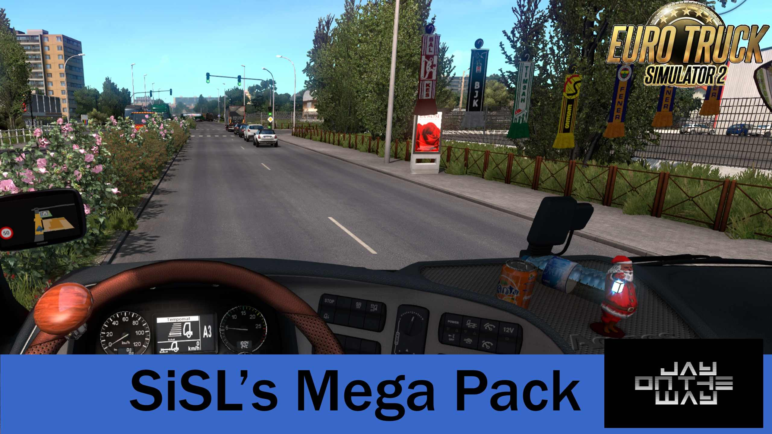 ETS2 - SiSL Mega Pack 3.2 interior Accessories (1.39.x)