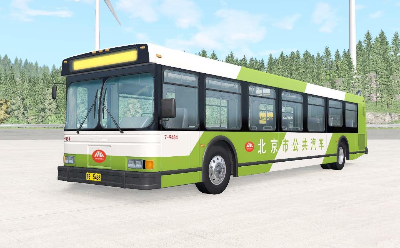BeamNG - Wentward DT40L Green Beijing Bus Mod