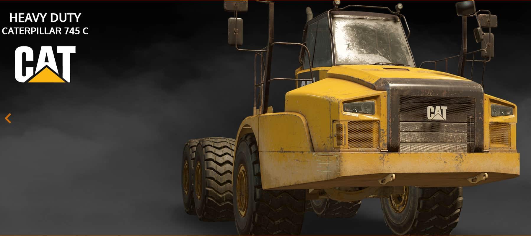 SnowRunner - Exhaust Fix for Cat 745C V1