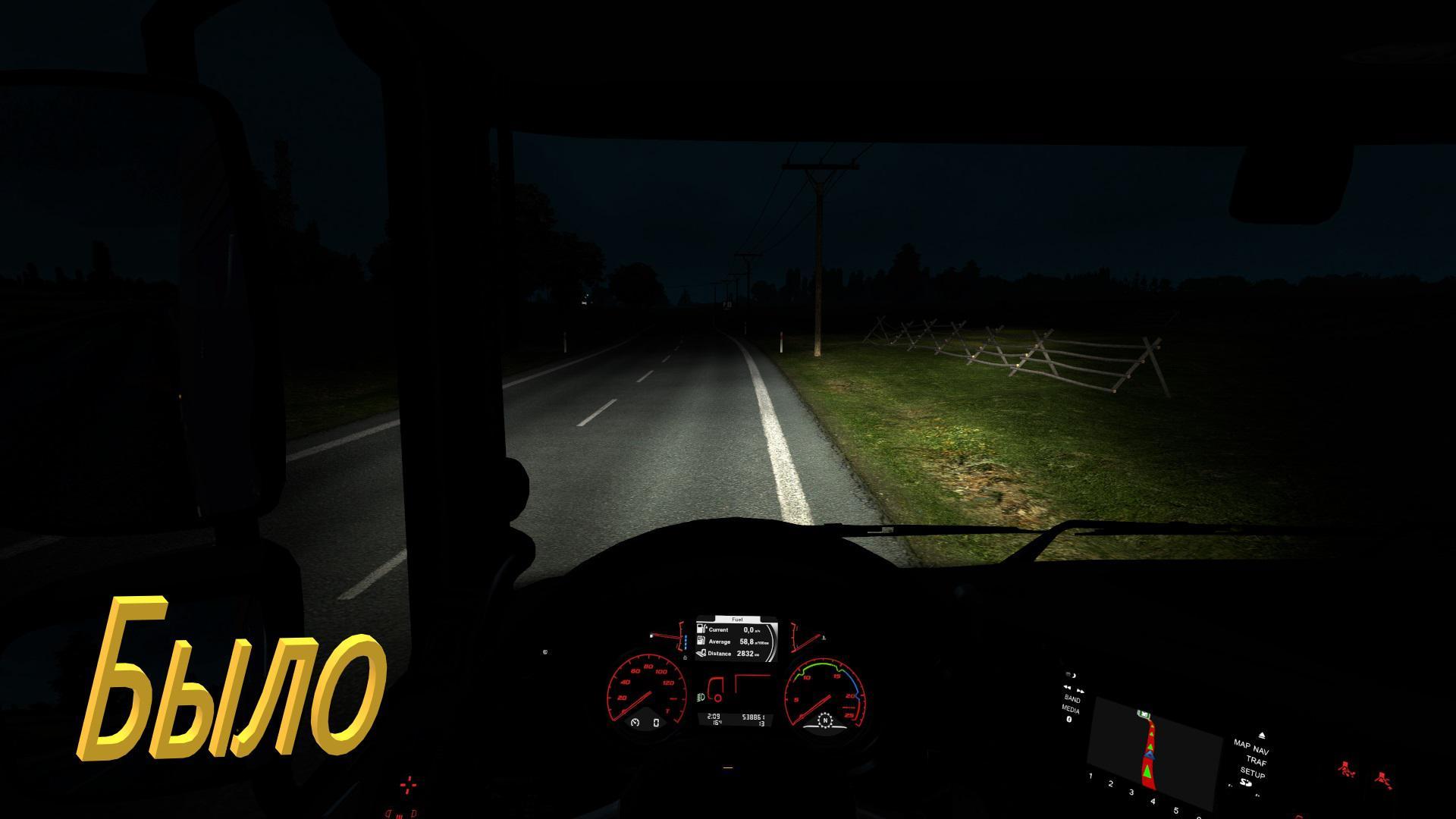 ETS2 - Realistic Light of Default Trucks V1.0 (1.37.x)
