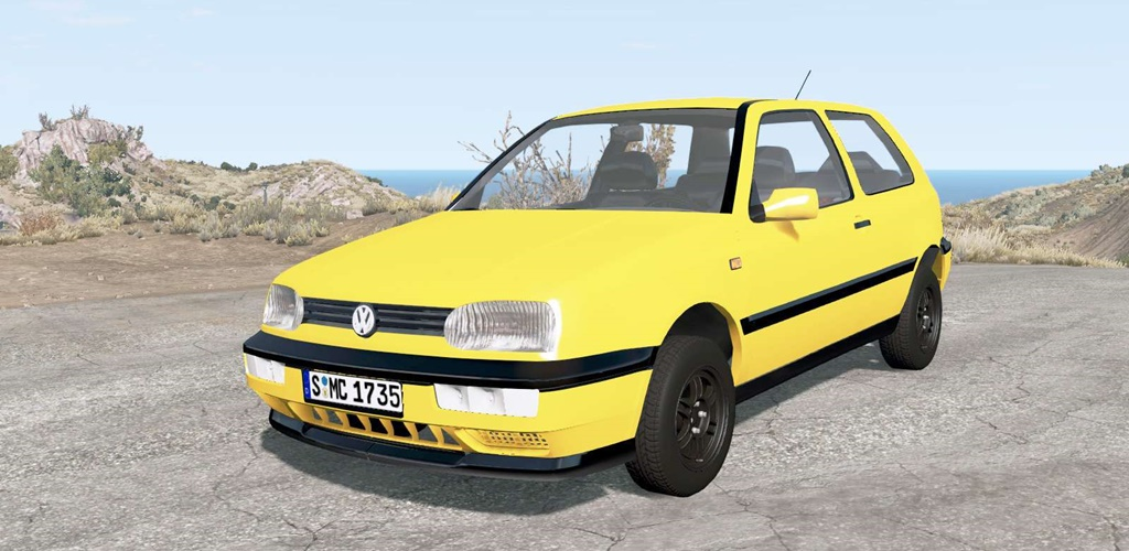 BeamNG - Volkswagen Golf 3-Door (Typ 1H) 1995 Car Mod