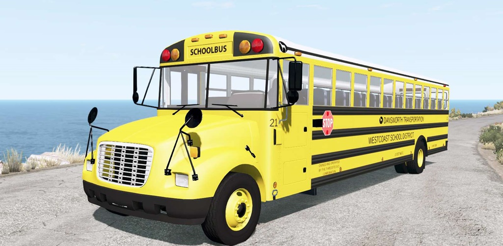 BeamNG - Dansworth D1500 (Type-C) School Bus Mod V9.2
