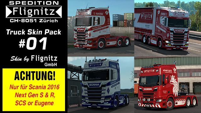 ETS2 - Flignitz Trucks Skins V1.0 (1.36.x)