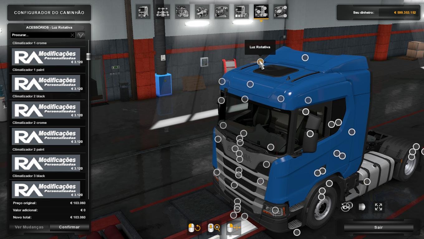 ETS2 - Addon Brasil Parts Next Generation Scania P G R S Series (1.36.x)