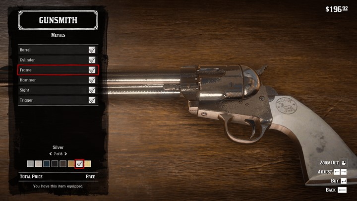 RDR2 - Shiny Weapons