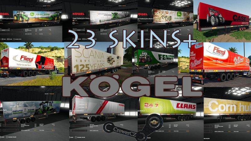 FS19 - Kogel Autoloader Pack Trailers 23+ Skins