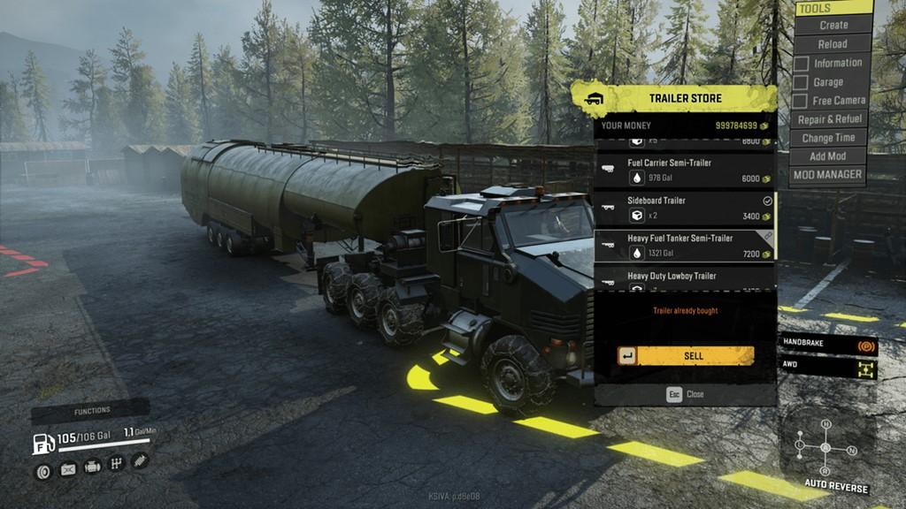 SnowRunner - Purchasable Heavy Fuel Trailer V1.0
