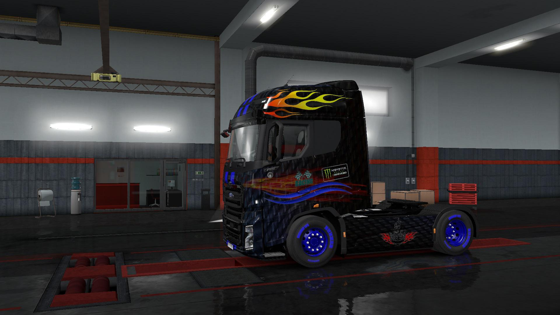 ETS2 - Ford F-Max Racing Skin V1.0 (1.36.x)