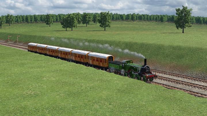 Transport Fever 2 - Teak Coach Set