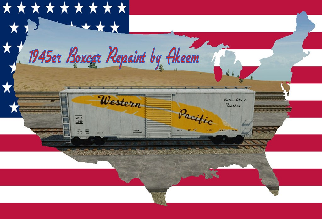 Transport Fever 2 - Boxcar 1945 - Western Pacific + Fake Wagon