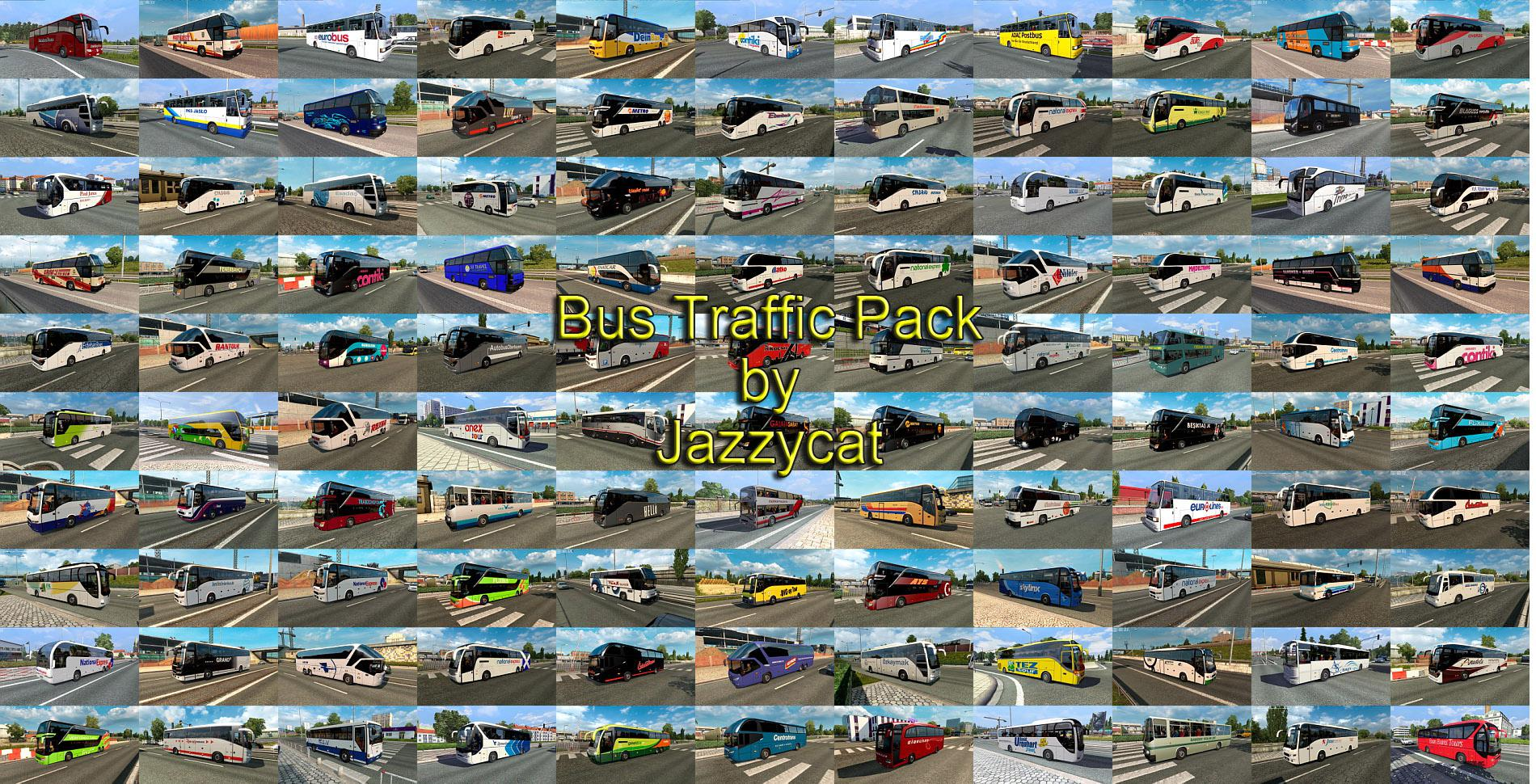 ETS2 - Bus Traffic Pack V9.6 (1.37.x)