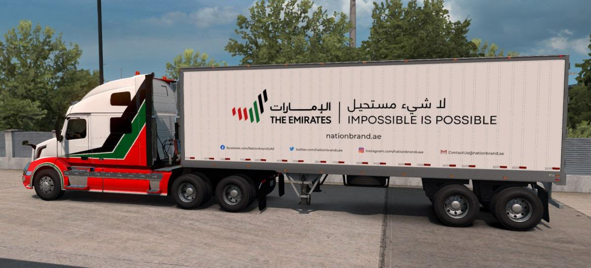 ATS - The Emirates Trailer Pack V1.0 (1.38.x)