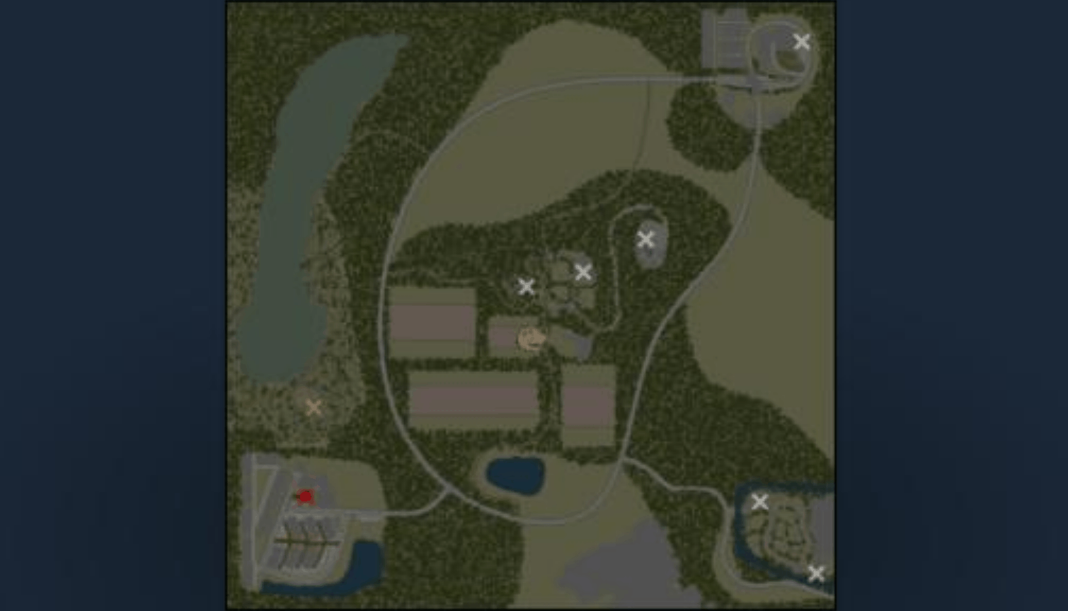 Spintires:Mudrunner - For 2 Khutors Map V1.7