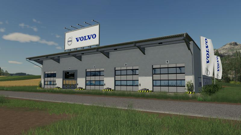 FS19 - Placeable Volvo Hall V1.0
