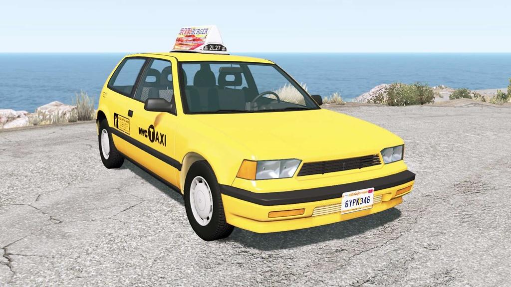 BeamNG - Ibishu Covet New York Taxi Mod