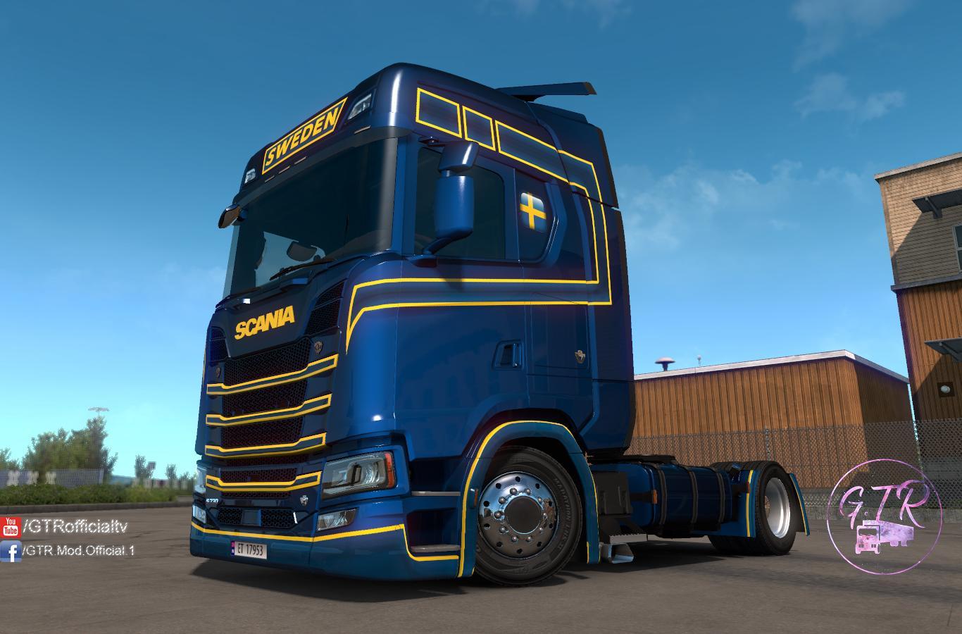 ETS2 - Scania S Next Gen Sweden Skin (1.35.X)