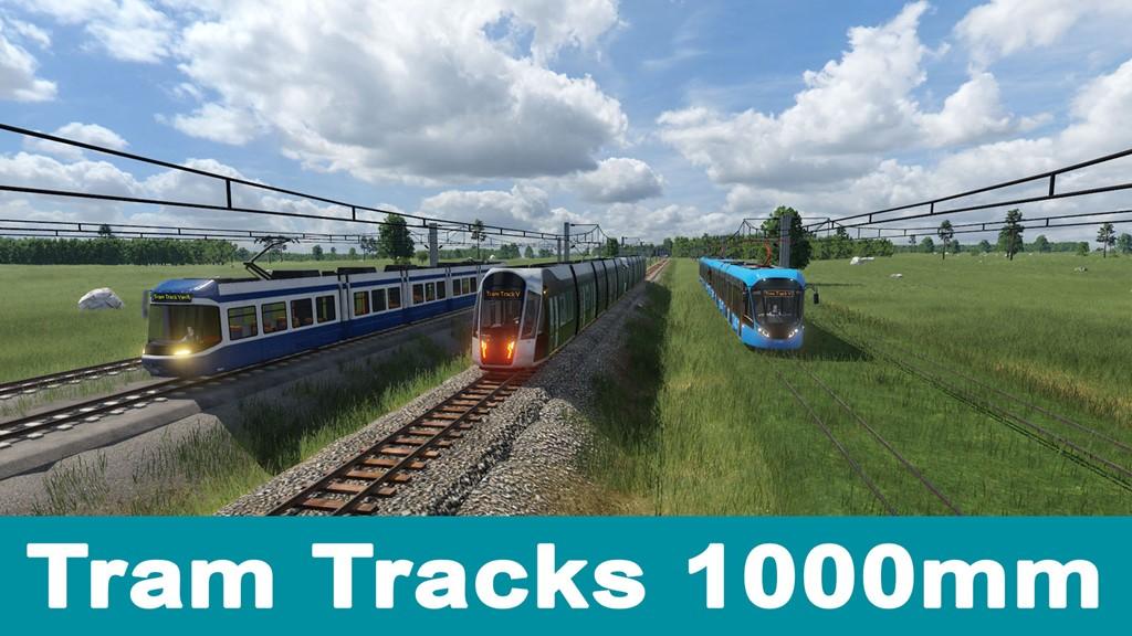 Transport Fever 2 - Tram Tracks 1000MM – Vanilla Assets