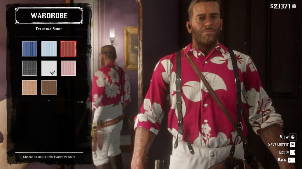 RDR2 - Hot Pink Tahiti Shirt