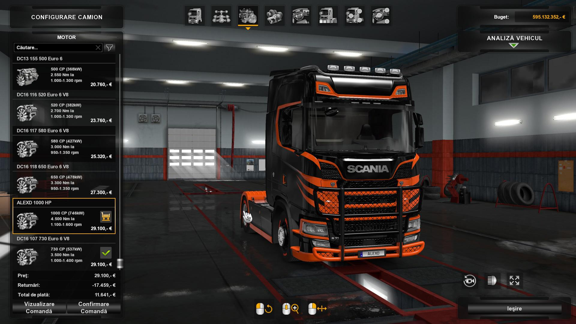 ETS2 - 1000 HP Engine All Trucks V1.2 (1.35.X)