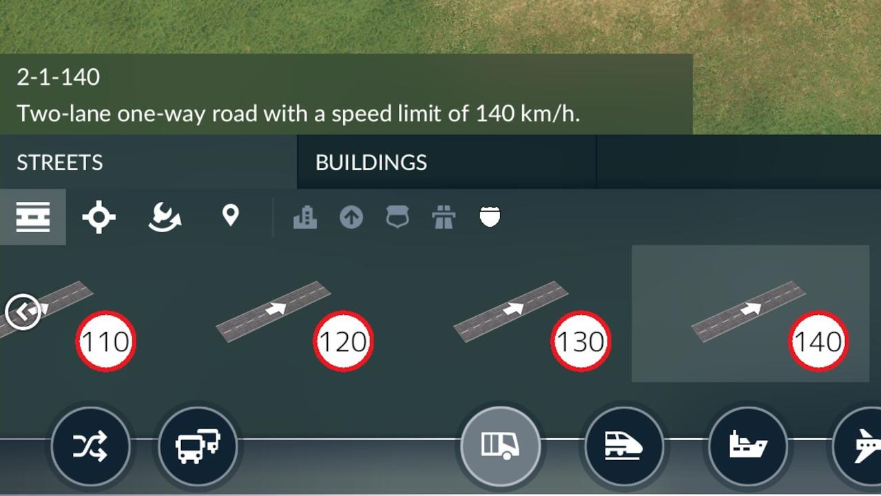 Transport Fever 2 - Realistic Highway Speeds (KM/H)