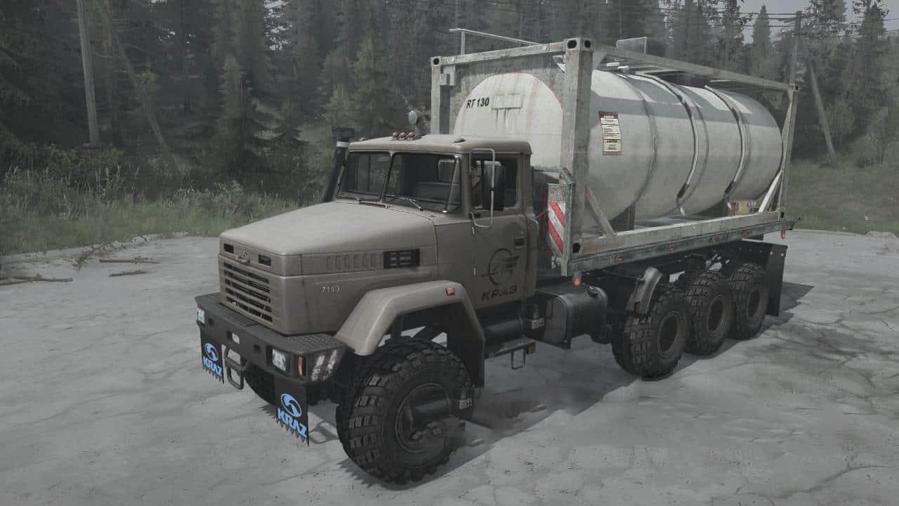 Spintires:Mudrunner - KrAZ-7140H6 Truck V15.04.21