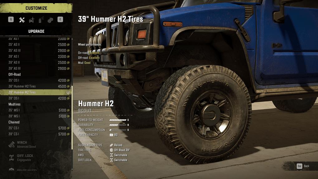 SnowRunner - Hammer H2 39 Tires V2.0