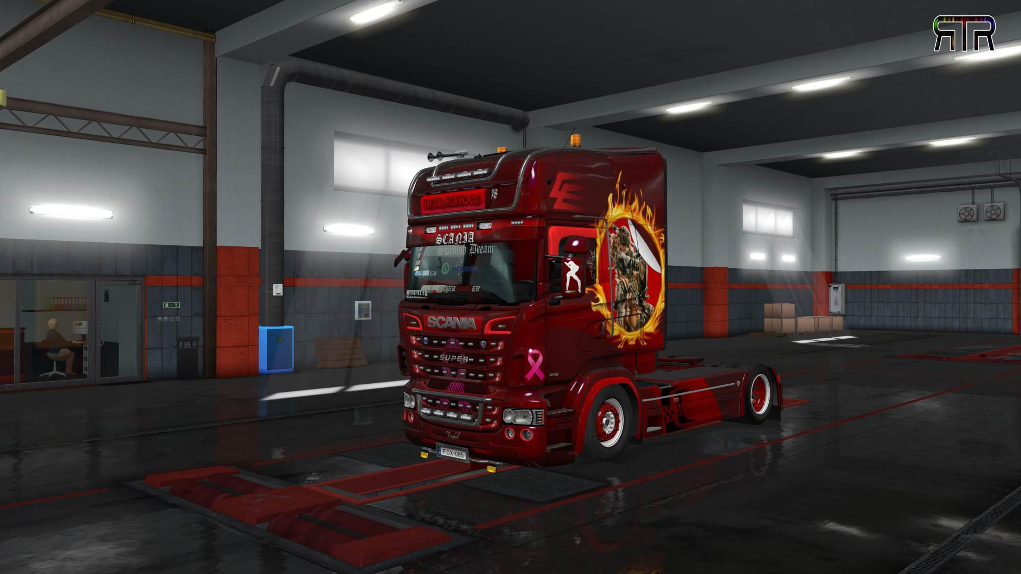 ETS2 - Warmaiden Skin for Scania RJL Topline V1.0 (1.35.X)