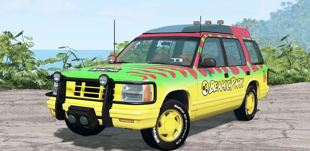 BeamNG - Gavril Roamer Tour Car Jurassic Park V4.2