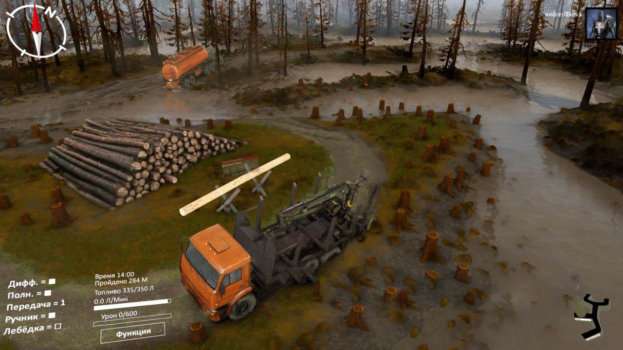 Spintires - Sabbat in A Day Map V1.0