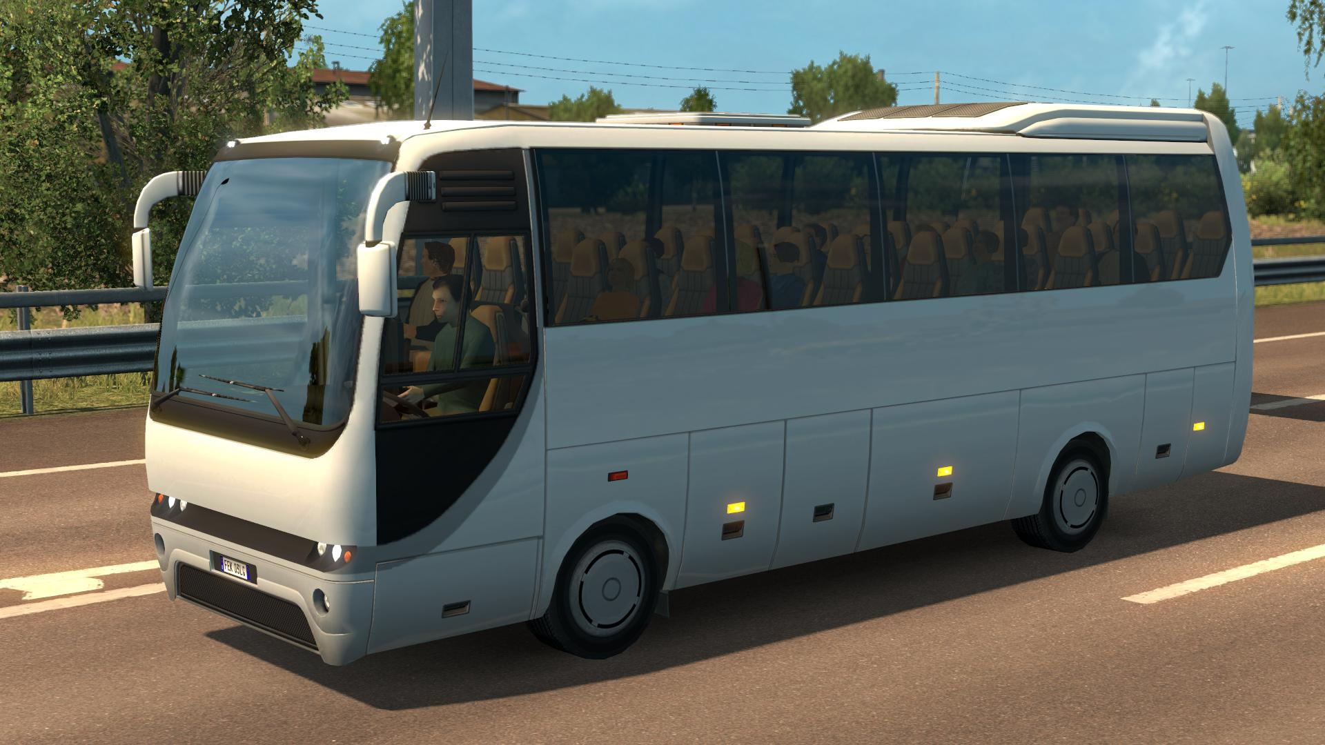 ETS2 - Random interior Lights and Passengers for SCS Buses V1.0 (1.36.X)