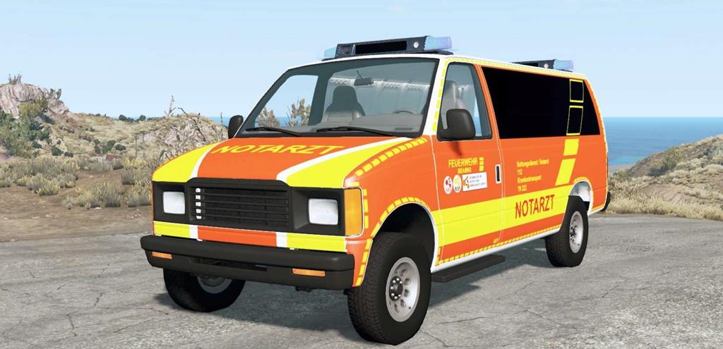 BeamNG - Gavril H-Series German Emergency V1.3