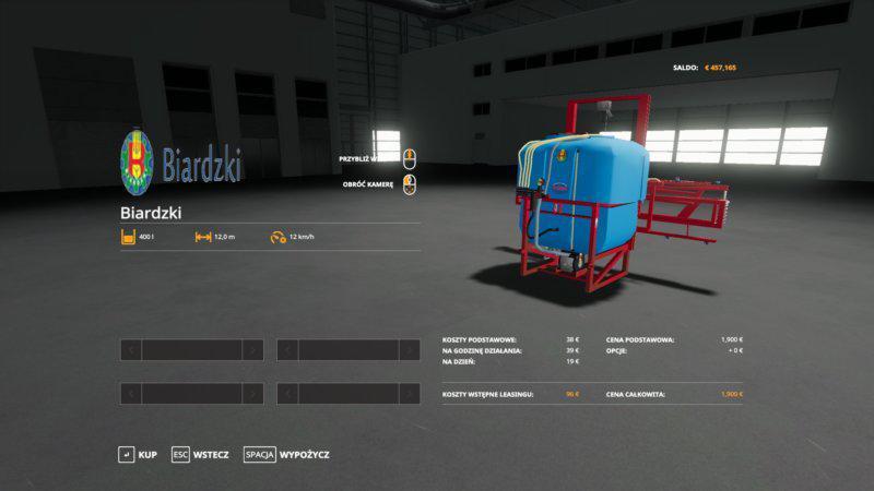 FS19 - Biardzki 400l Niebieski V1.0.0.1