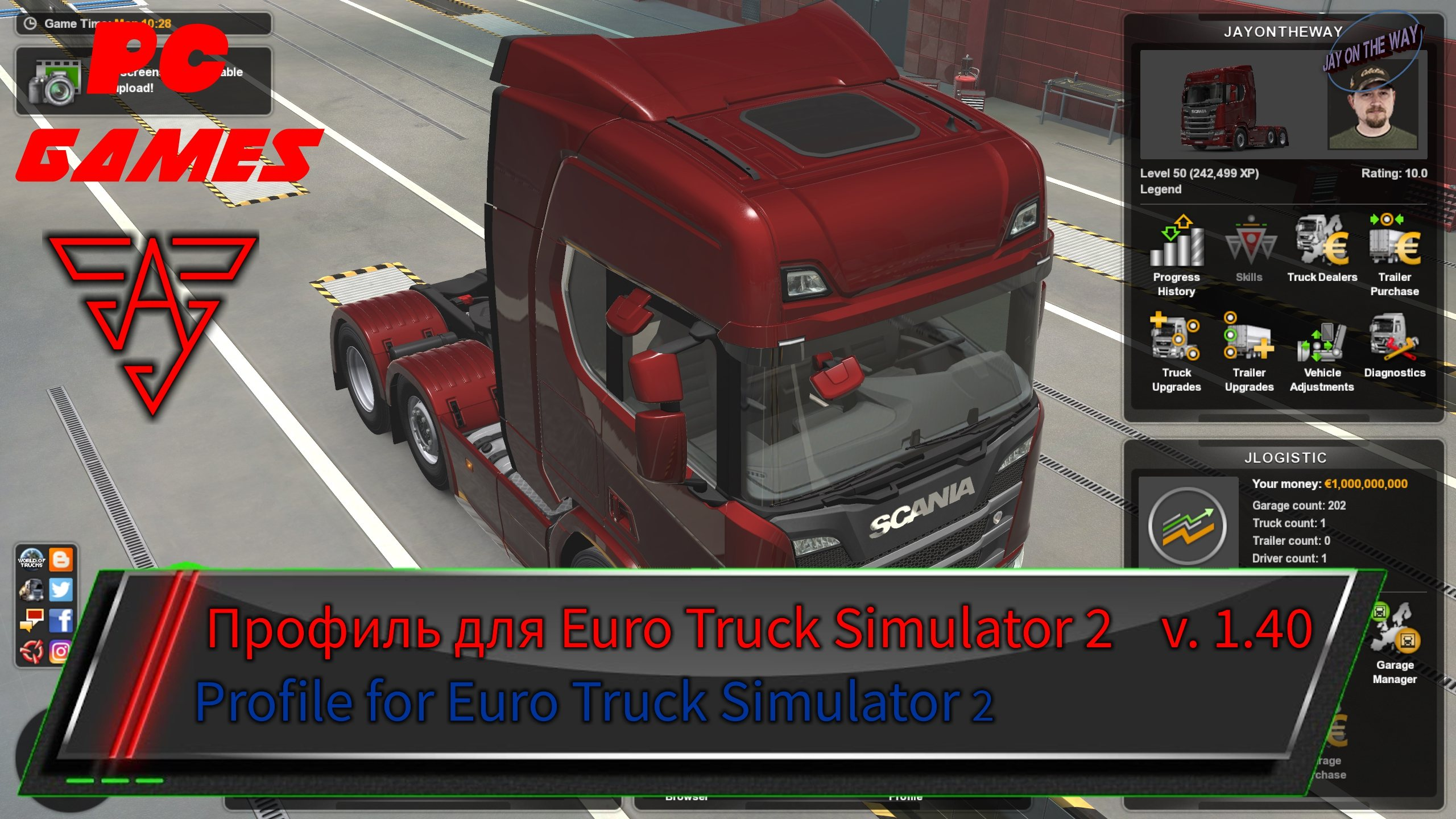 ETS2 - Upgraded Profile Version 4.0 (1.40.x)