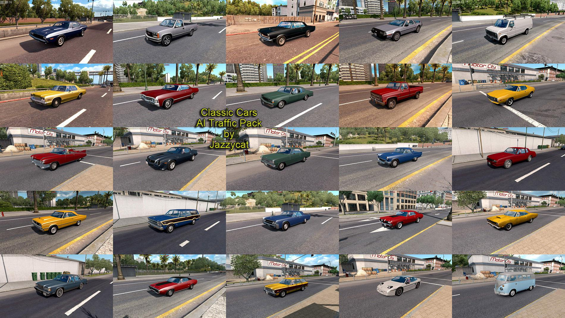 ATS - Classic Cars Ai Traffic Pack V3.6 (1.35.X)