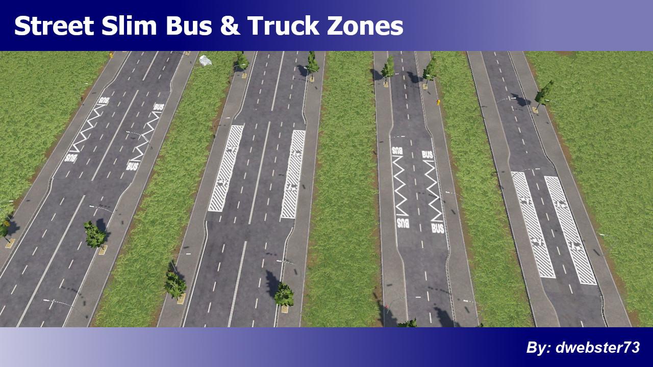 Transport Fever 2 - Street Slim Bus & Truck Zones