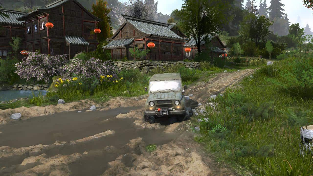 Spintires:Mudrunner - Chinese Village and Canyon Map V1.0