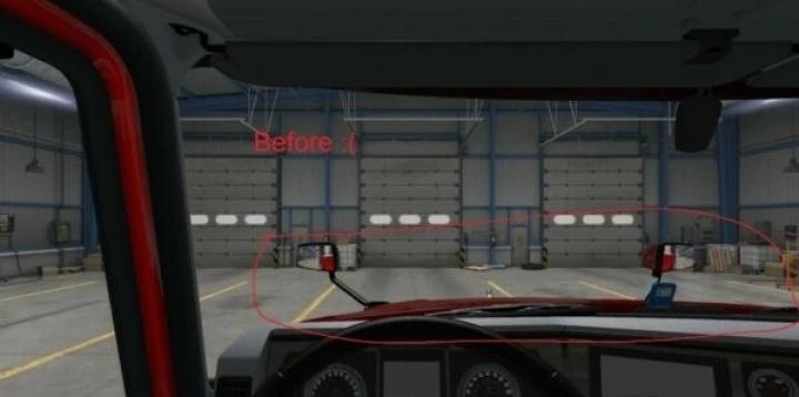 ATS - Mack Anthem Interior View Hood Fix V2.1 (1.40.x)
