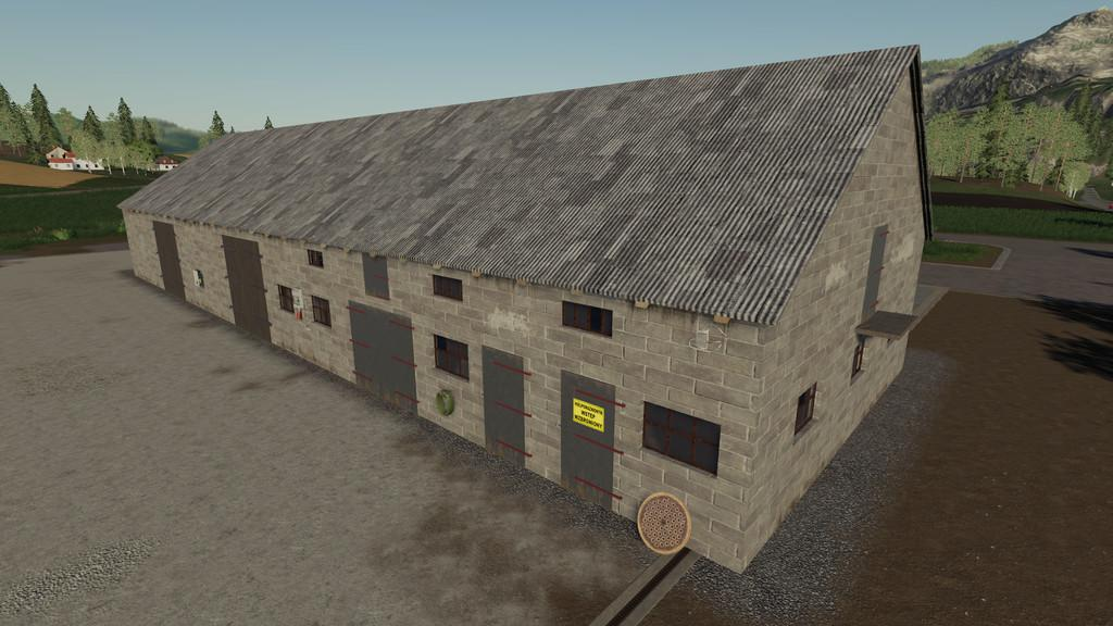 FS19 - Polish Brick Barn V1.0