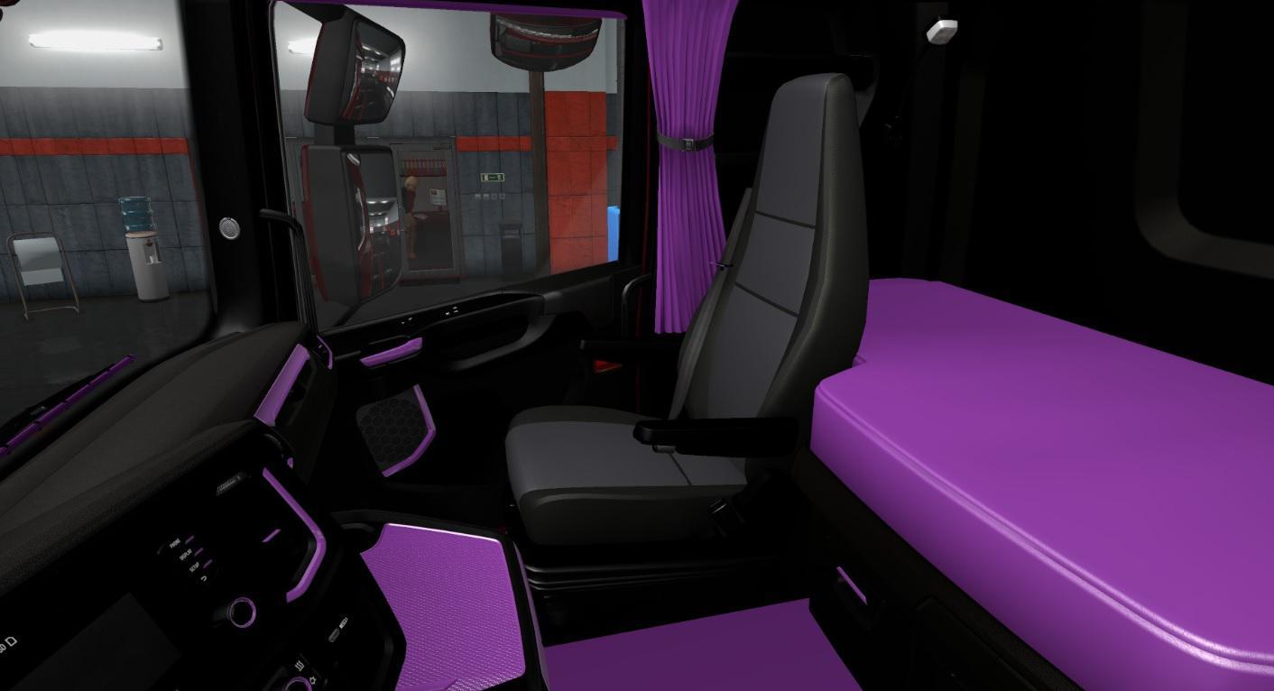 ETS2 - Scania S & R 2016 Black and Purple Interior (1.36.x)