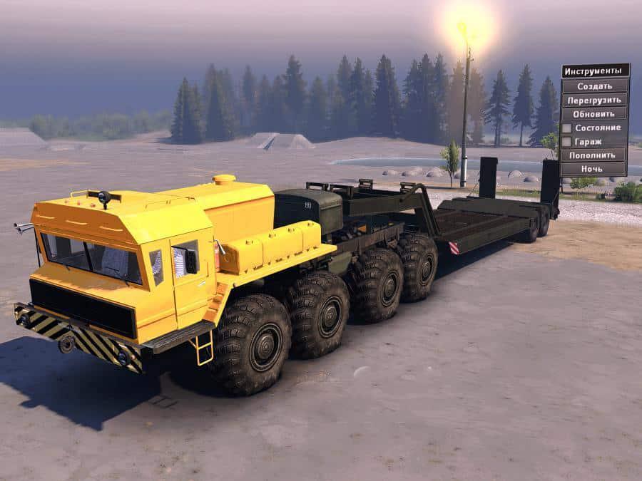SpinTires:Mudrunner - MAZ 7414, 7919, 79191 Truck Mod V1.0