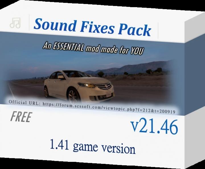 ATS - Sound Fixes Pack V21.46 (1.41.x)