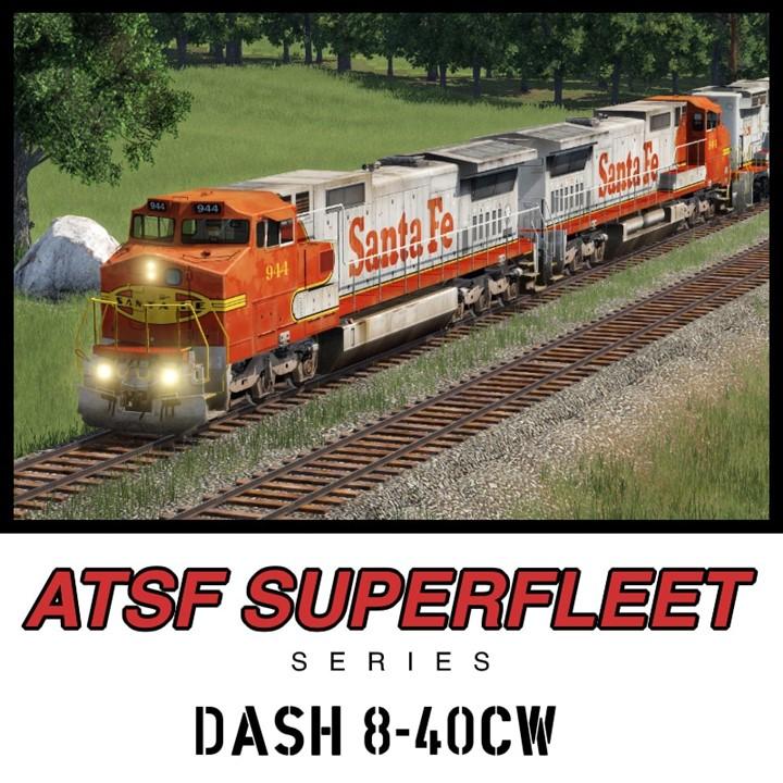 Transport Fever 2 - GE Dash 8-40CW Santa Fe