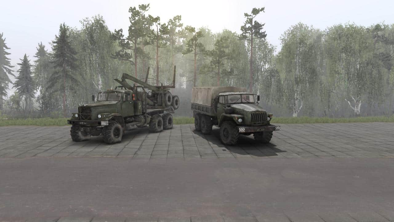 Spintires - Re-Sound of Kraz 255 and Ural 4320 with YaMZ 238 V1.0
