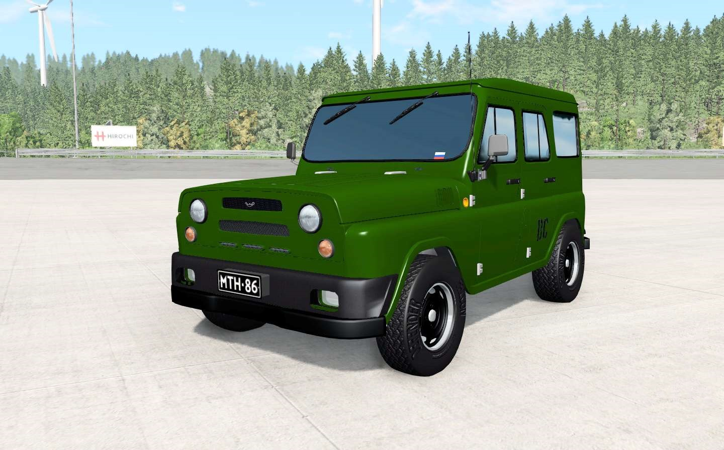 BeamNG - Uaz Antigenic Army Car Mod