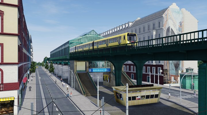 Transport Fever 2 - Berlin Elevated Rail Viaduct Pack with Houses, Tracks and Much More