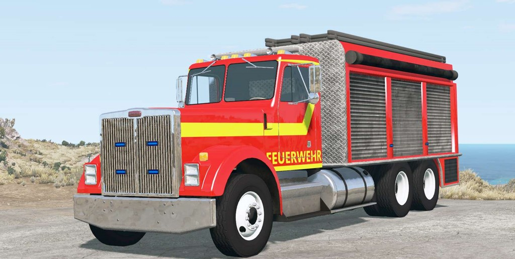 BeamNG - Gavril T-Series Fire Truck