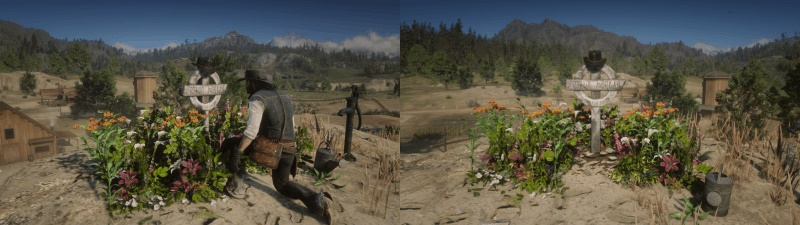 Red Dead Redemption 2 - Arthurs Grave At Beechers Hope Map