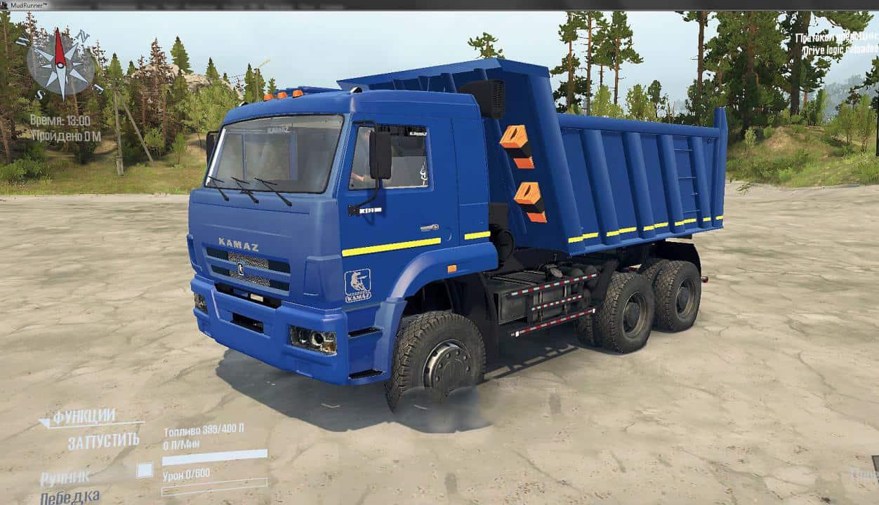 Spintires:Mudrunner - KaMaZ 6522 SV Truck