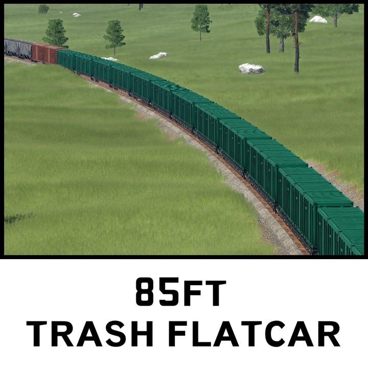 Transport Fever 2 - 85Ft Trash Flatcar